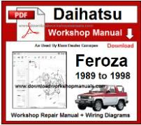 Daihatsu Feroza Service Repair Workshop Manual Download